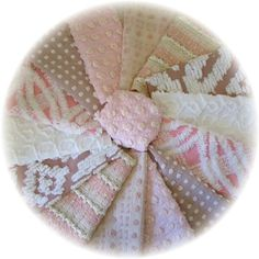 21  Pretty Pinks and Soft Browns Vintage Chenille by teelady, $22.99
