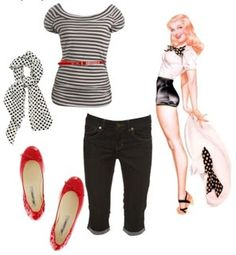 Pin Up's Simple pinup outfit! Pin Up's Simple pinup outfit! Moda Rockabilly, Looks Rockabilly, Rockabilly Outfits, Rockabilly Fashion, Retro Outfits, Vintage Outfits, Rockabilly Girls, Fashion 60s, Girl Fashion