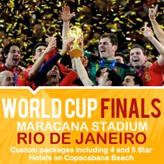 2014 World Cup Experience Packages. For Details Contact taylormadetravel142@gmail.com  call 828-475-6227