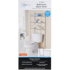 Free 2-day shipping on qualified orders over $35. Buy Mainstays 3-Shelf Bathroom Space Saver, Chrome Finish at Walmart.com