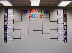 Grade - Language Arts - Tournament of Kids Books -To celebrate March Madness, 16 favorite kids books face off bracket style. I really liked this and its a great way to encourage kids to read. All of the grade could have one tournament of books. Reading Resources, Reading Activities, Teaching Reading, Teaching Tools, Teaching Ideas, Class Activities, Spring Activities, School Classroom, School Fun