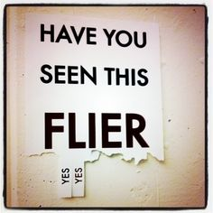have you seen this flier?