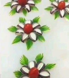 Fruits Decoration, Vegetable Decoration, Veggie Art, Fruit And Vegetable Carving, Fruit Crafts, Food Crafts, Food Design, Kreative Snacks, Amazing Food Art