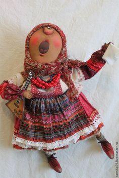 Купить Гастроли! - разноцветный, текстильная кукла, ароматизированная кукла, интерьерная кукла, народный стиль