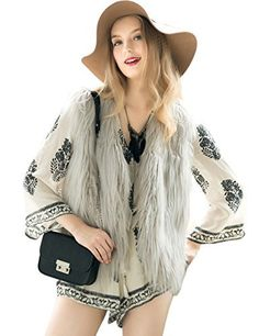 #womensfashion Fashion Women Faux Fur V-Neck One Hook Short Vest Waistcoat: At Women's Clothing Center, we offer our… #womensclothing