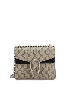 Gucci Dionysus GG Supreme Mini Shoulder Bag, Beige Black Gucci Shoulder  Bag, Dionysus 47003c1f445