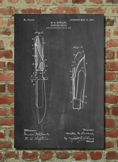 Hunting Knife Poster Hunting Knife Patent Hunting door PatentPrints