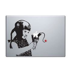 Banksy Vinyl Decal / Sticker to fit Macbook Pro by StickerScience, $5.49
