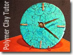 Birthday Gift Ideas for Men – Faux Turquoise Polymer Clay Clock