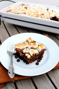 S'mores Bread Pudding | Bakerita.com