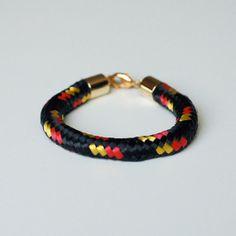 Black Bungee Cord Bracelet by kellyssima on Etsy