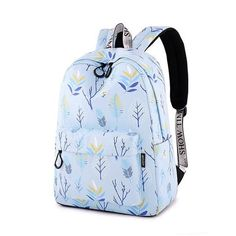 WINNER 2018 New School Backpacks For Teenage Girls Fashion Leaves Printing  Backpack Women Mochila Fresh Rucksack Travel Bag 332ffc87a85af