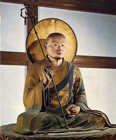 Hachiman in Guise of Buddhist Monk, mainly worship in Japan, a Buddhist deity of war and archery. 1201 AD, Todaiji Temple (Nara), Height made by Kaikei Buddhist Monk, Buddhist Art, Yasukuni Shrine, Japanese Buddhism, Kamakura Period, Chinese Art, Deities, Nara, Buddha Statues