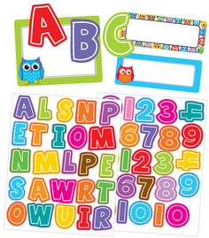 Colorful Owls Label Stickers (CD-168182) #classroom #decor #AILtyler