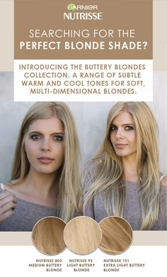 Introducing the Buttery Blondes Collection. We have a range of subtle warm and cool blonde tones. Find yours!