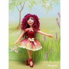 Ballerina, needle felt doll