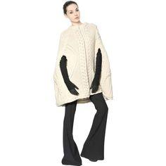 ALEXANDER MCQUEEN Super Yak Wool Merino Cable Knit Coat