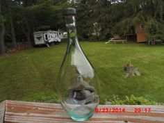 This really cool bottle was a free bee also, I love the cap on it. It is marble. Cool shape too.
