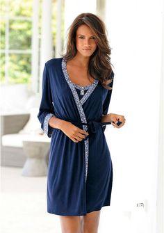 Халат-кимоно цвет: темно-синий арт: 633939263 купить в Интернет магазине Quelle за 2099.00 руб  - с доставкой по Москве и России