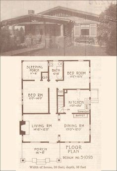 1915 California Bungalow - Hewitt-Lea-Funck Company - Low-pitched gabled roof: