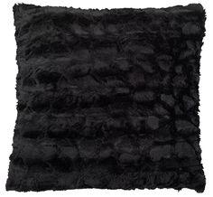 Pernă MYGGBLOM 45x45cm imit. blană negru | JYSK
