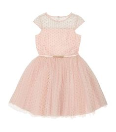 David Charles Gold Spot Tulle Dress