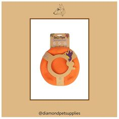 The eco-friendly Becoflyer is a toy your pooch will love. . It's soft and flexible so it is gentle on teeth when your pup pulls off aerial catches. . The flyer has raised edges to help your hound scoop it up from the ground and is made from tough natural rubber with a vanilla scent.