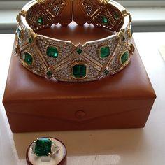 Marina B impressive emerald and diamond pieces