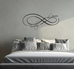 Wall Decals Love Infinity Symbol Decal Family by LollipopDecals