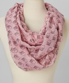 Another great find on #zulily! Pink Owl Infinity Scarf by Jasmine Trading Corp #zulilyfinds