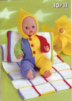 Knitting Pattern Baby- Barbie Doll & Premature Babies in Crafts, Needlecrafts & Yarn, Crocheting & Knitting Knitting Dolls Clothes, Baby Doll Clothes, Knitted Dolls, Doll Clothes Patterns, Doll Patterns, Boy Doll, Girl Dolls, Barbie Dolls, Baby Barbie