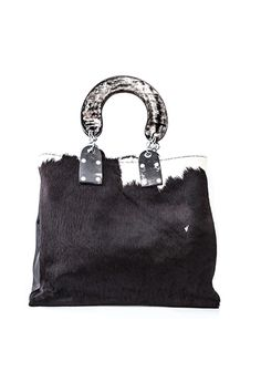 Atoti cow hide tote bag /// Swaady collection www.adeledejak.com