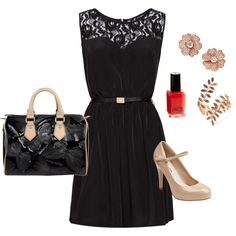 Outfit for a DATE (Black and Beige)