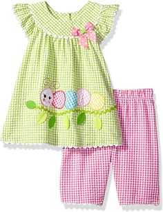 Looking for Bonnie Baby Baby Girls Seersucker Playwear Set Applique ? Check out our picks for the Bonnie Baby Baby Girls Seersucker Playwear Set Applique from the popular stores - all in one. Baby Girl Dress Patterns, Baby Clothes Patterns, Little Girl Dresses, Girls Dresses, Sewing Kids Clothes, Baby Sewing, Doll Clothes, Baby Girls, Baby Baby