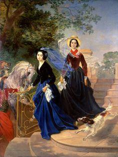 Karl Bryullov. Карл Брюллов. Портрет сестер А А. и О. А. Шишмаревых. 1839.