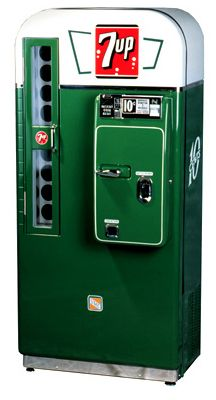 The Vendo and Soda Machines, Similarities & Differences The Vendo Company eventually merged with its rival, the Vendorlator Manufacturing Soda Vending Machine, Coke Machine, Vending Machines, Coca Cola, Vintage Signs, Retro Vintage, Soda Machines, Flipper, Vintage Appliances