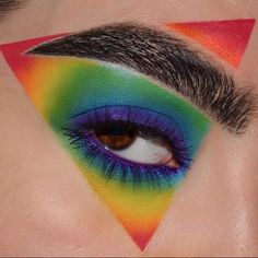 48 Hübsche Regenbogen-Make-up-Ideen 48 Pretty Rainbow Makeup Ideas Illuminati Confirmed – Pretty # Makeup Eye Looks, Eye Makeup Art, Colorful Eye Makeup, Crazy Makeup, Cute Makeup, Gorgeous Makeup, Eyeshadow Makeup, Awesome Makeup, Eyebrow Makeup
