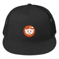 Reddit Logo Alien Head, Classic Trucker Cap