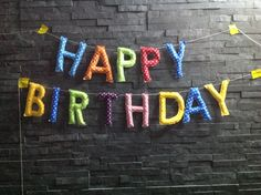 Happy Birthday Girlande  von Eisbären auf DaWanda.com