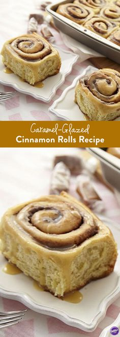 Cinnamon Roll Recipe - Make these delicious cinnamon rolls that are glazed with caramel. Perfect to serve over brunch!