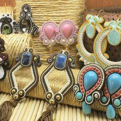 Brincos de soutache Pepot Acessórios Soutache Earrings