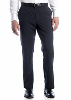 Nautica Navy Wrinkle Resistant Blue Stripe Pants