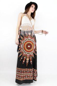 Vintage 70s TRIBAL GYPSY Skirt AZTEC Indian Sun Wrap - Fierce Vintage Clothing by TatiTati Vintage on Etsy. $118.00, via Etsy.