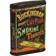 Buckingham Bright Cut Plug Smoking Tobacco Tin (Trial Package). from thecuriousamerican on Ruby Lane