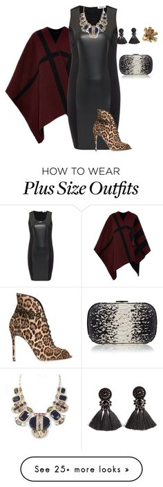 """plus size diva style"" by kristie-payne on Polyvore featuring Burberry, Persona, Kate Spade, H&M, Gianvito Rossi, Loeffler Randall and Oscar de la Renta"