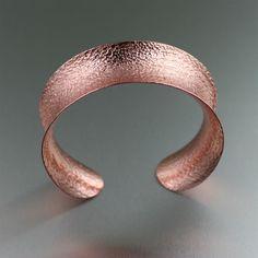 Cool Texturized Copper Cuff Listed on https://www.ilovecopperjewelry.com/anticlastic-texturized-copper-cuff-bracelet.html #CopperAnniversary #fashion