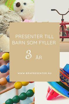 Fina presenter till barn som fyller 3 år | En sida med massor av presenttips som 3-åringar tycker om att få. Ge 3-åringen en perfekt födelsedag med de rätta presenterna!