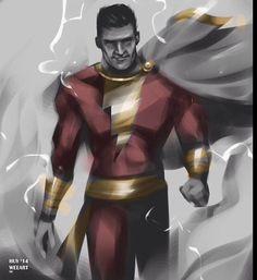 Joe Manganiello as Shazam. Shazam Dc Comics, Captain Marvel Shazam, Dc Comics Heroes, Joe Manganiello, Justice League, Thor, Captain America, Avengers, Batman