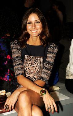 #street #fashion Olivia Palermo / boho geometric dress @wachabuy