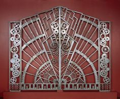 Pair of gates from the Chanin Building, Rene Paul Chambellan, 1928.